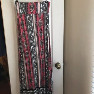 Charlotte Russe Maxi Paisley Skirt